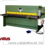 Cesoie a ghigliottina Hyllus con incavo ad azionamento idraulico - Modelli Iota-Ro-Sigma-Alfa-Kappa - Art.330-331-331B-334