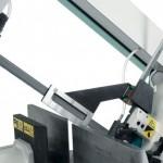 Particolare costruttivo del tastatore per avvicinamento rapido al materiale con rilevazione automatica del punto di inizio taglio montato su tutte le troncatrici semiautomatiche e automatiche Imet