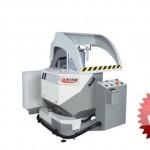 Troncatrice monotesta per alluminio ABCD versione automatica per tagli a 90° con alimentatore, modello Rekta