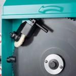 Particolare costruttivo del carter con getto lubrorefrigerante per Imet Sirio 315/370