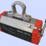 Sollevatore magnetico Tecnomagnete Serie Max-X/TG - Idonei al sollevamento di lamiere e tubi di piccolo spessore con portate da 125kg, con spessore minimo 10mm fino a 2000kg con spessore minimo 35mm
