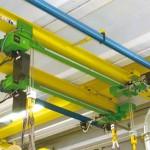 Impianto Omis/Fac in monorotaia rettilinea on trave laminata con paranchi a doppia uscita