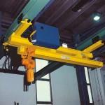 Impianto sospeso Omis/Fac a ponte monotrave motorizzato con estrazione manuale